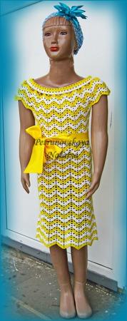 """Платье """"Сhamomile"""" вязаное для девочки ручной работы на заказ"""