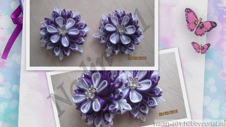Цветы с завитками №5, пара ручной работы на заказ