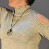 """Пуловер вязаный с открытыми плечами """"Джули"""""""