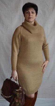 Платье  вязаное  (Sweater dress) ручной работы на заказ