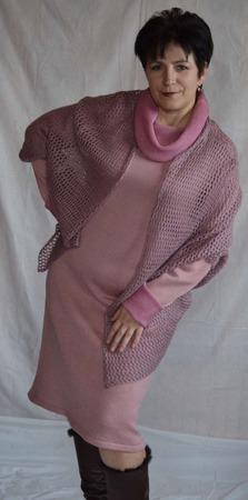 Платье вязаное Бутон нежности ручной работы на заказ
