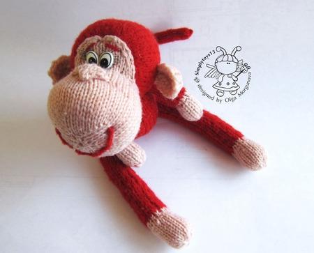 """Мастер-класс """"Маленькая обезьянка - егоза"""" ручной работы на заказ"""