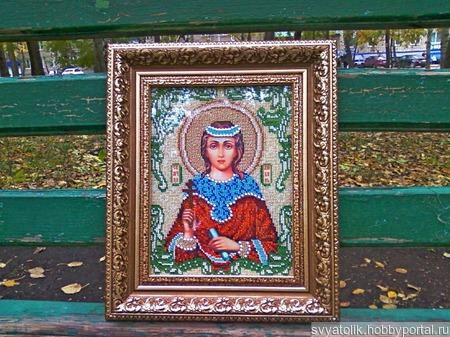 """Икона """"Святая Мученица Любовь"""" ручной работы на заказ"""