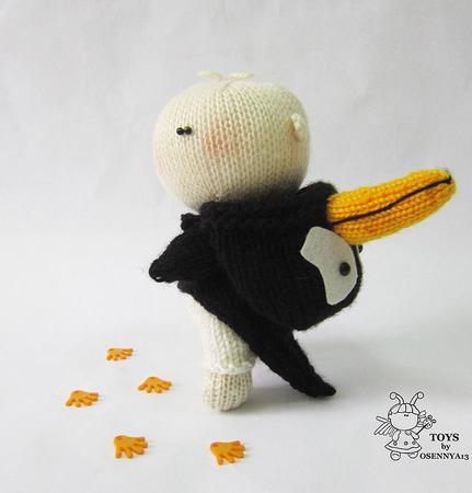 """Мастер-класс """"Пупсик Пингвин"""" ручной работы на заказ"""