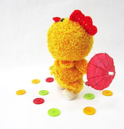 """Мастер-класс """"Пупсик в костюме цыпленка"""" ручной работы на заказ"""