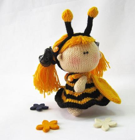 """Мастер-класс """"Пупсик в костюме Пчелки"""" ручной работы на заказ"""