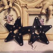 Кожаные серьги-звезды
