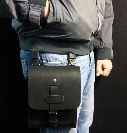 Мужская поясная сумка ручной работы на заказ