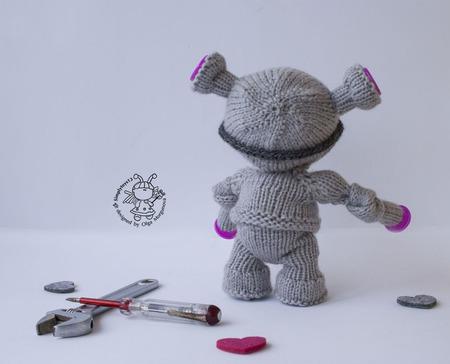 """Мастер-класс """"Пупсик Робот """" ручной работы на заказ"""