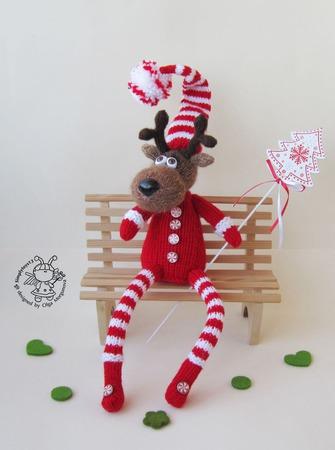 """Мастер-класс  """"Рождественский олень"""" ручной работы на заказ"""