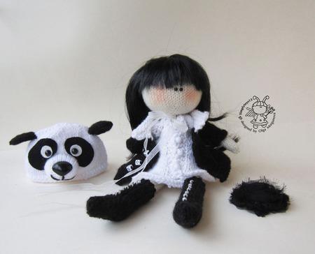 """Мастер-класс """"Кукла панда"""" ручной работы на заказ"""