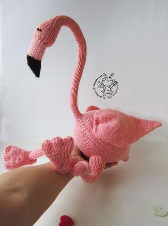 """Мастер-класс """"Большой Розовый Фламинго"""" ручной работы на заказ"""