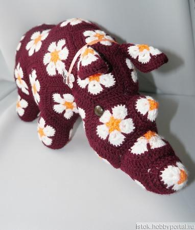 """Носорог """"Цветочек"""" ручной работы на заказ"""