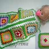 Комплект одеяло и подушка для куклы