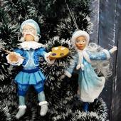 Ватные игрушки - Дядюшка Иней и девушка Зима