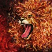 Огненный лев (маслом)