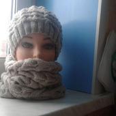 Комплект шапочка и снуд женский