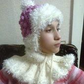Мк по шапочке и манишке для девочки