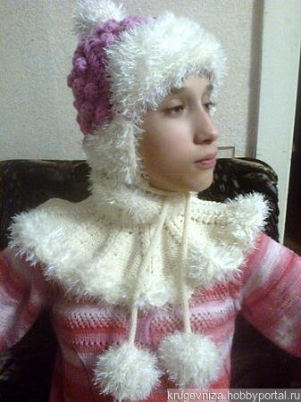 Мк по шапочке и манишке для девочки ручной работы на заказ