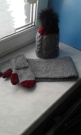 Комплект зимний для мальчика ручной работы на заказ