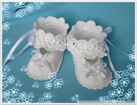 Пинетки-туфельки ручной работы на заказ