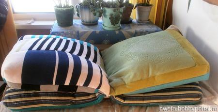 Подушка - складушка ручной работы на заказ