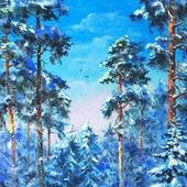 Картина Сосны в снегу