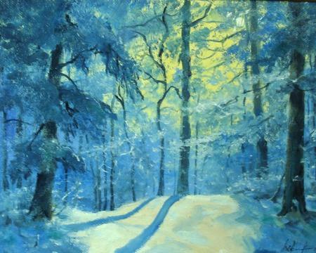 Зимнее утро в лесу ручной работы на заказ