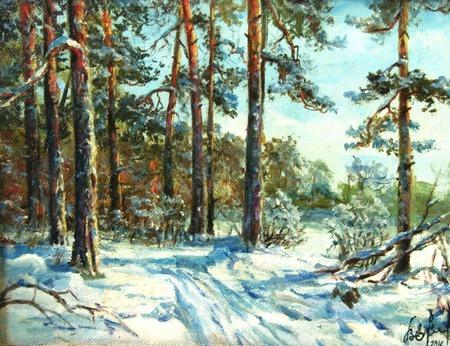Зима в Серебряном Бору ручной работы на заказ