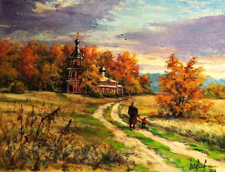 Краски осени (серия осенник пейзажей) ручной работы на заказ