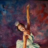 Балерина. Масляная живопись.