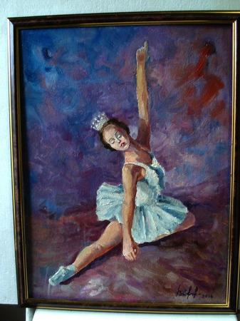 Балерина. Масляная живопись. ручной работы на заказ