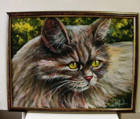 """Картина """"Кот простой необыкновенный"""" ручной работы на заказ"""