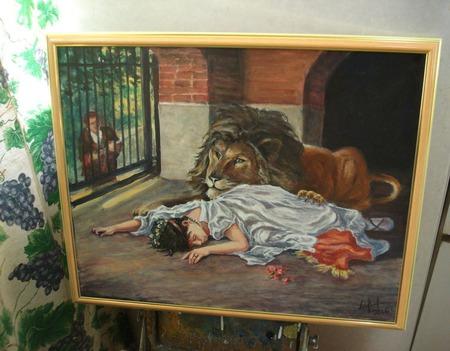 """Копия картины """"Невеста Льва"""" (1908 г). ручной работы на заказ"""