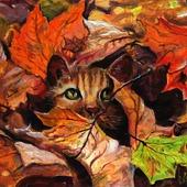 Осенние листья.Взгляд из осени.
