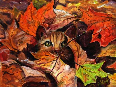 Осенние листья.Взгляд из осени. ручной работы на заказ