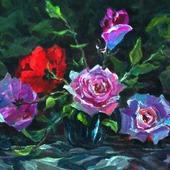 Серия натюрмортов с цветами