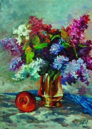 Серия натюрмортов с цветами ручной работы на заказ