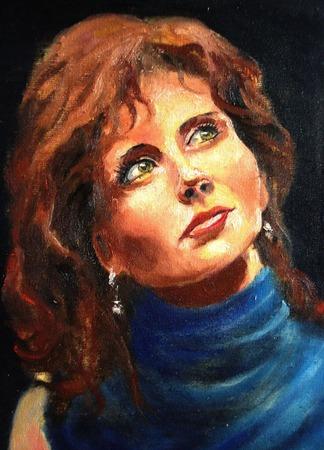 Женский портрет на заказ (по фото) ручной работы на заказ