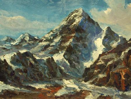 Горный пейзаж. Гималаи. ручной работы на заказ