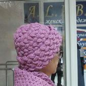 Комплект крючком шапка и шарф