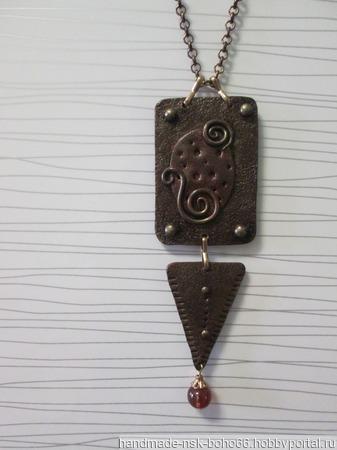 Колье имитация металла ручной работы на заказ