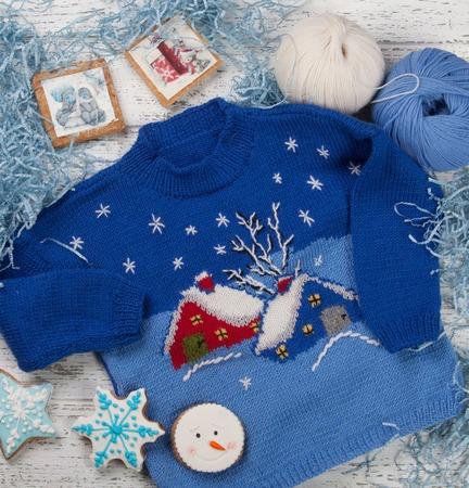 """Детский свитер """"Зимняя сказка"""" ручной работы на заказ"""