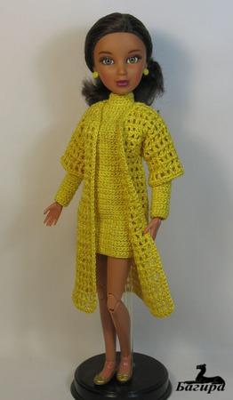 Осенний комплект на куклу Лив ручной работы на заказ