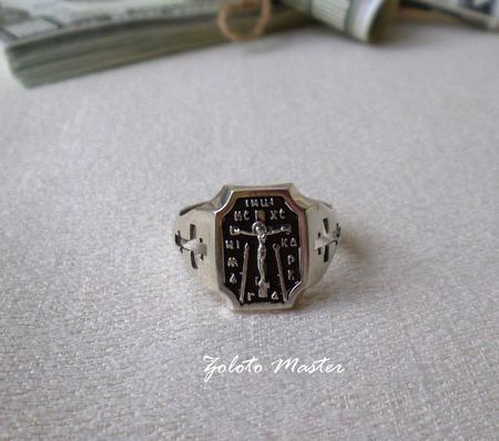 """Кольцо """"спаси и сохрани"""" Серебро 925 пробы. ручной работы на заказ"""