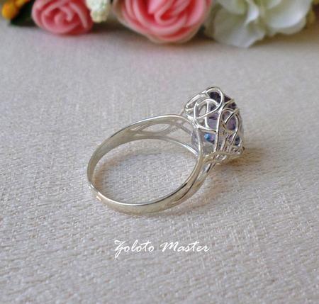 Серебряное кольцо. Горный хрусталь мистик. ручной работы на заказ