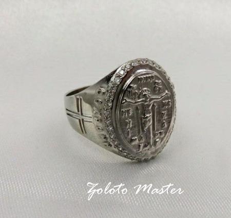 """Кольцо серебряное  """"Спаси и сохрани"""" ручной работы на заказ"""