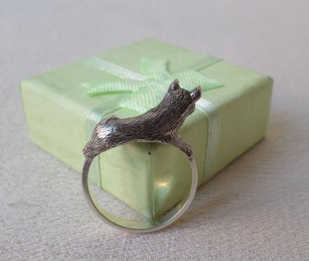 """Серебряное кольцо """" Верный друг"""" ручной работы на заказ"""