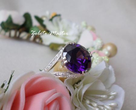 Серебряное кольцо ручной работы на заказ
