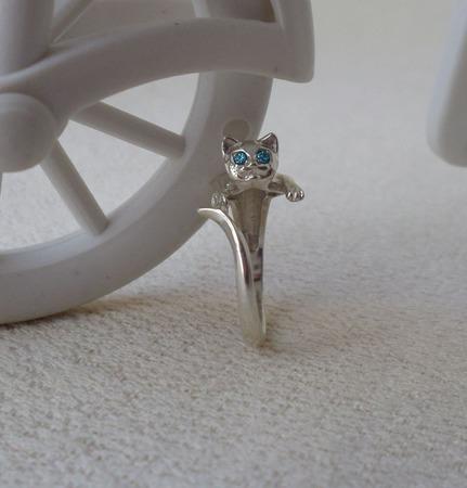 """Кольцо  """"Кошка"""" ручной работы на заказ"""